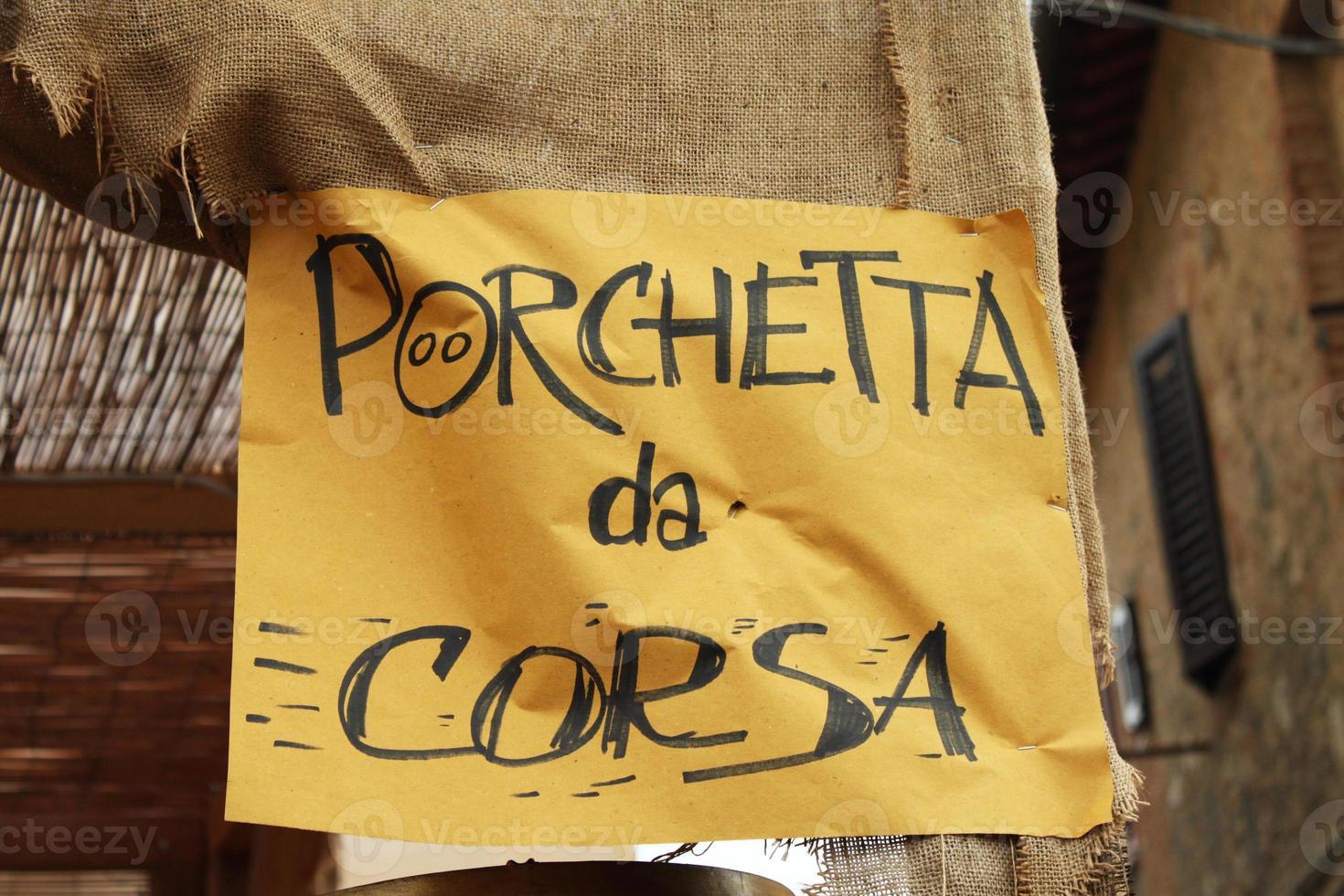 Tourist Italian signboard photo