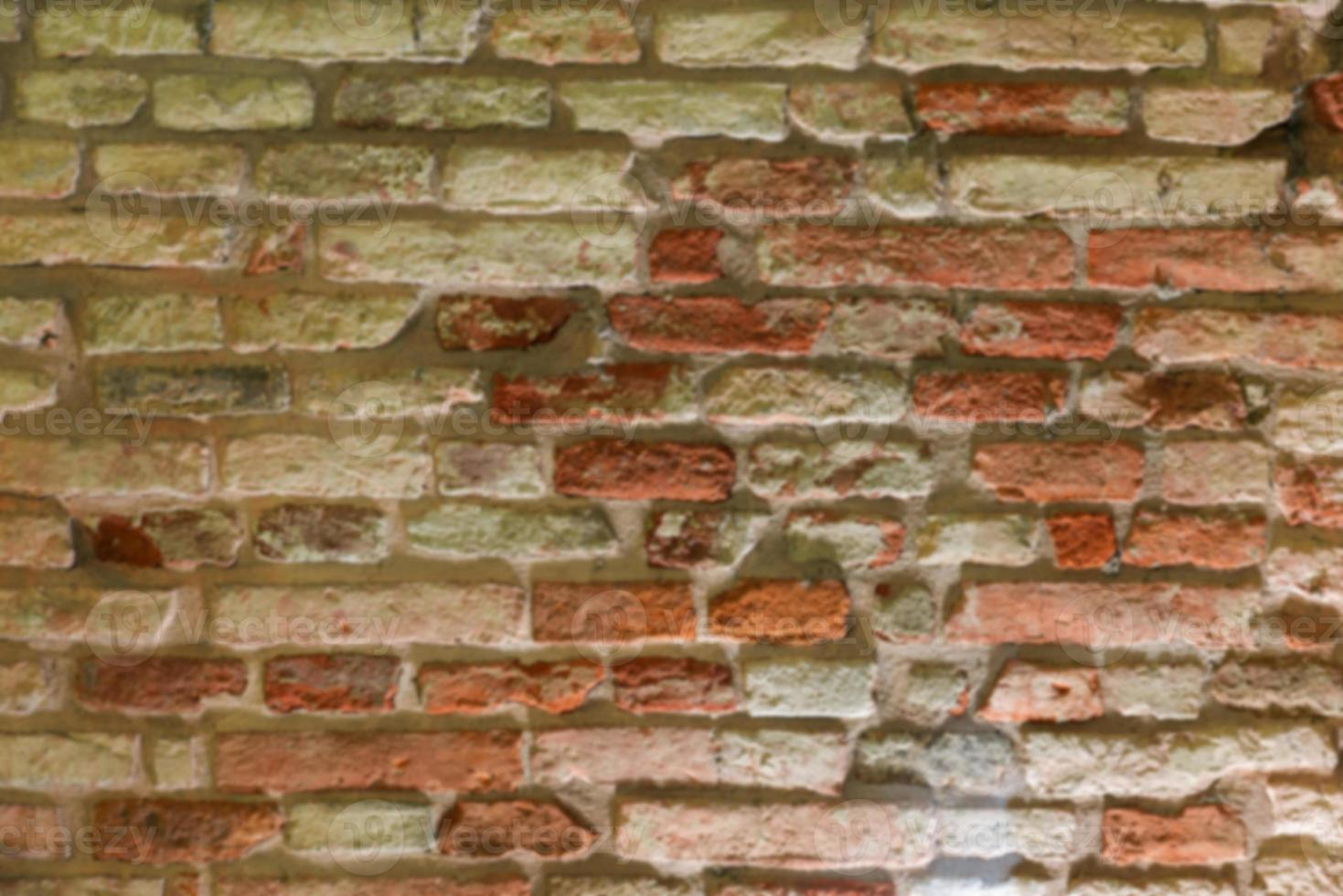 Brick wall blurred photo