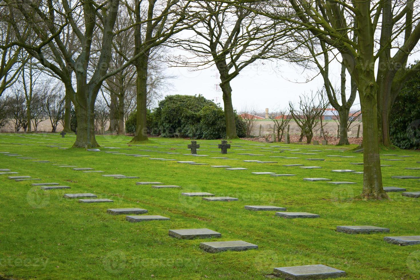 Gran guerra mundial alemana 1 campos de Flandes cementerio de Bélgica foto