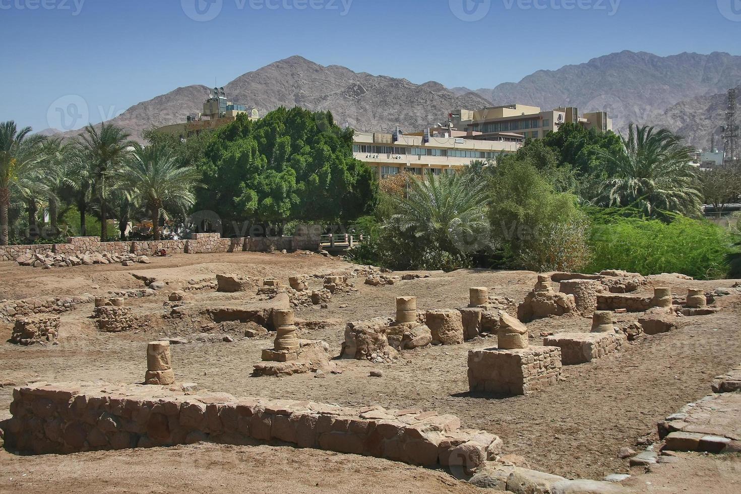 Archaeological site Ayla in Aqaba, Jordan photo