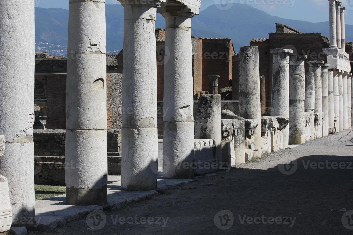 fórum romano de pompéia foto