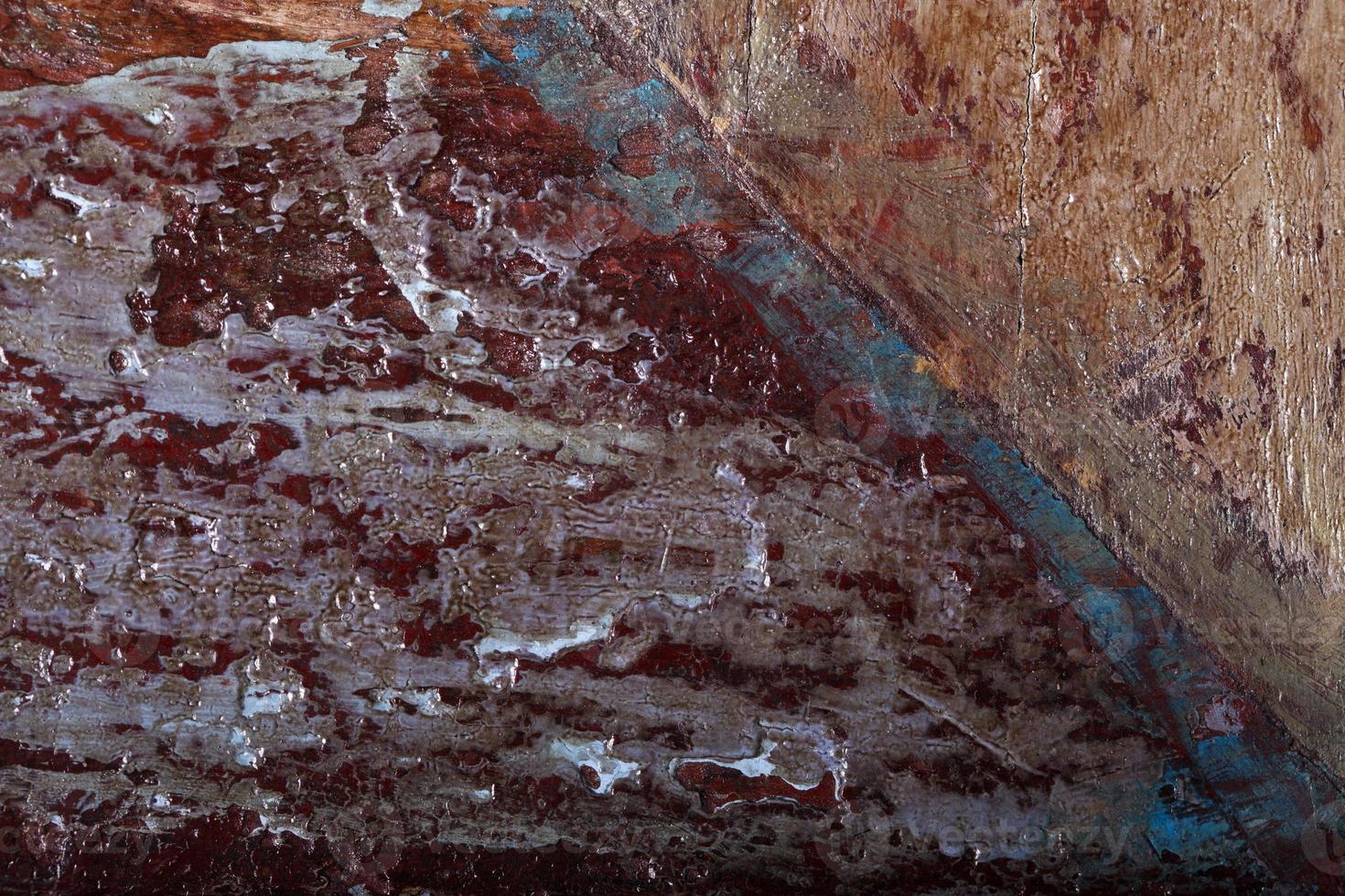 textura de madera con pintura y barniz foto