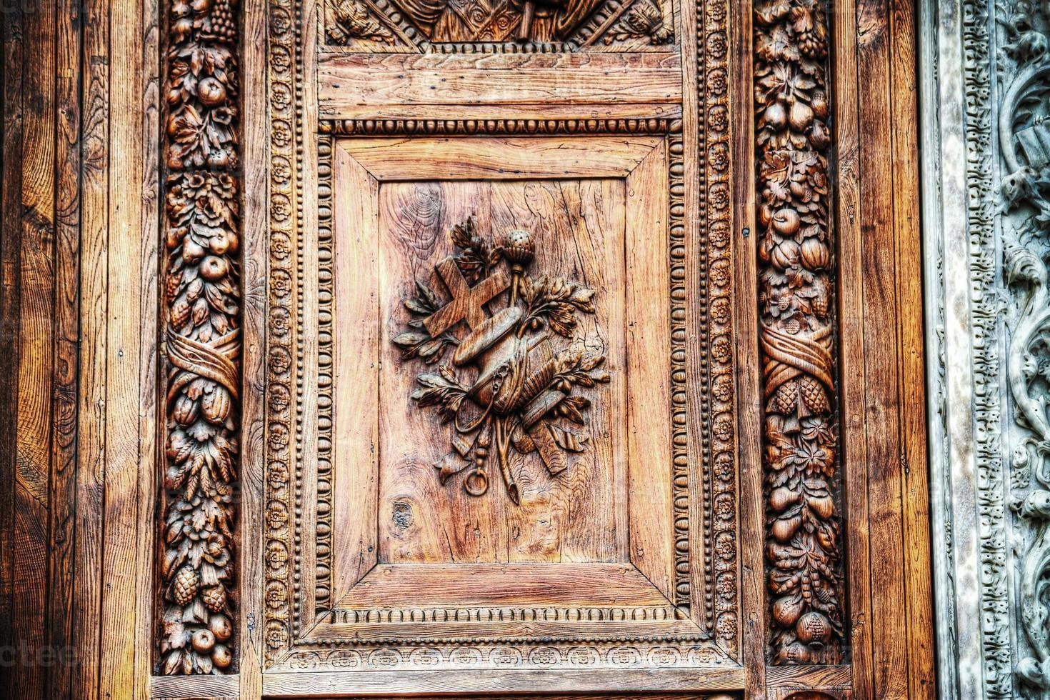 Santa Croce main door close up photo