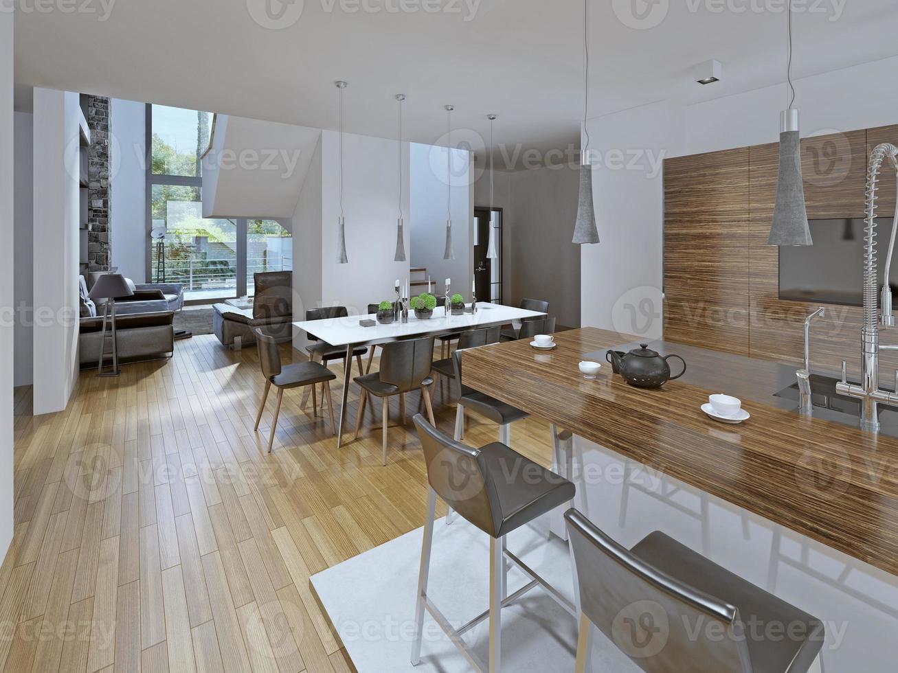 keuken met eethoek foto