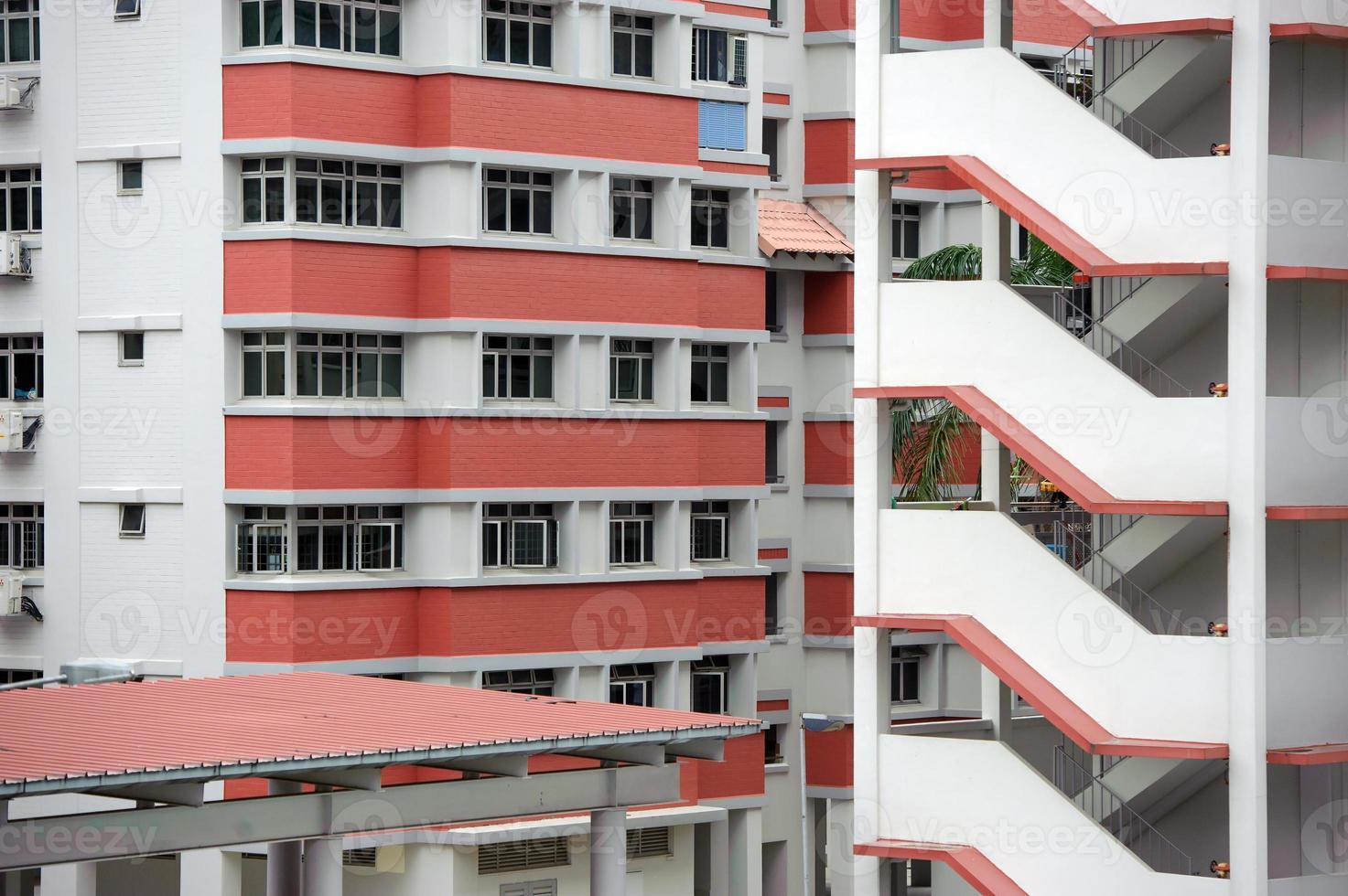 Plano abstracto de vivienda pública en Singapur. foto