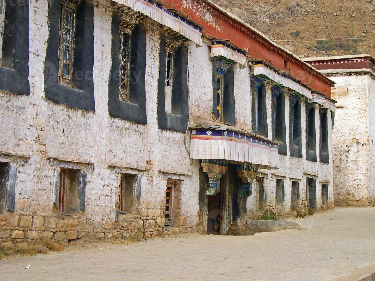 lhasa, tíbet, sera monasterio foto