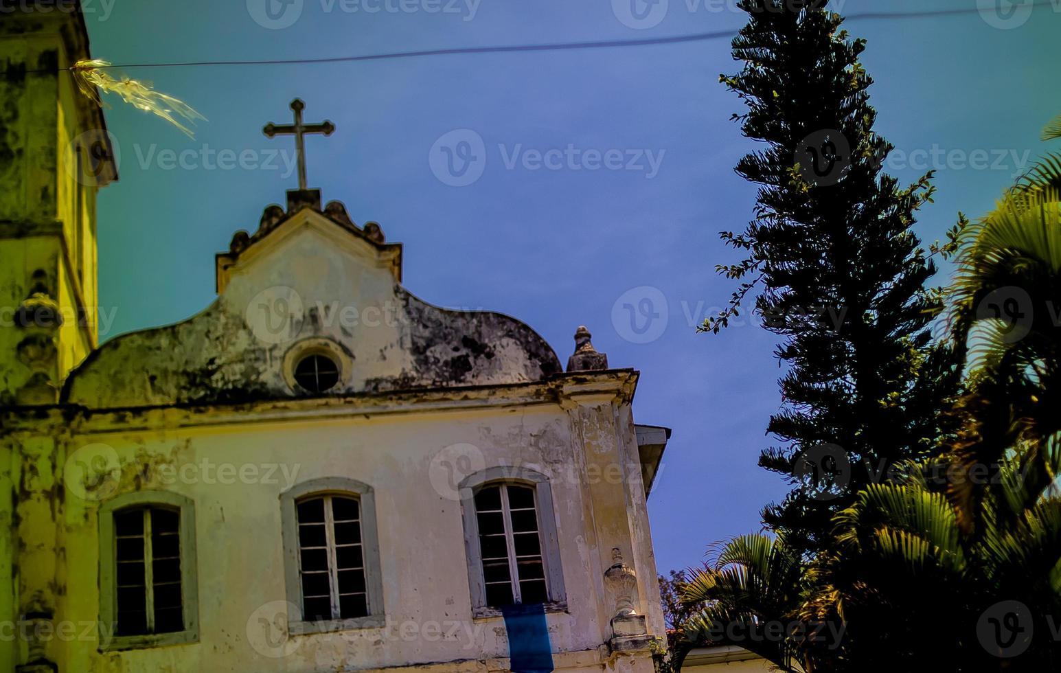 detail of the facade of the church of São Francisco. photo