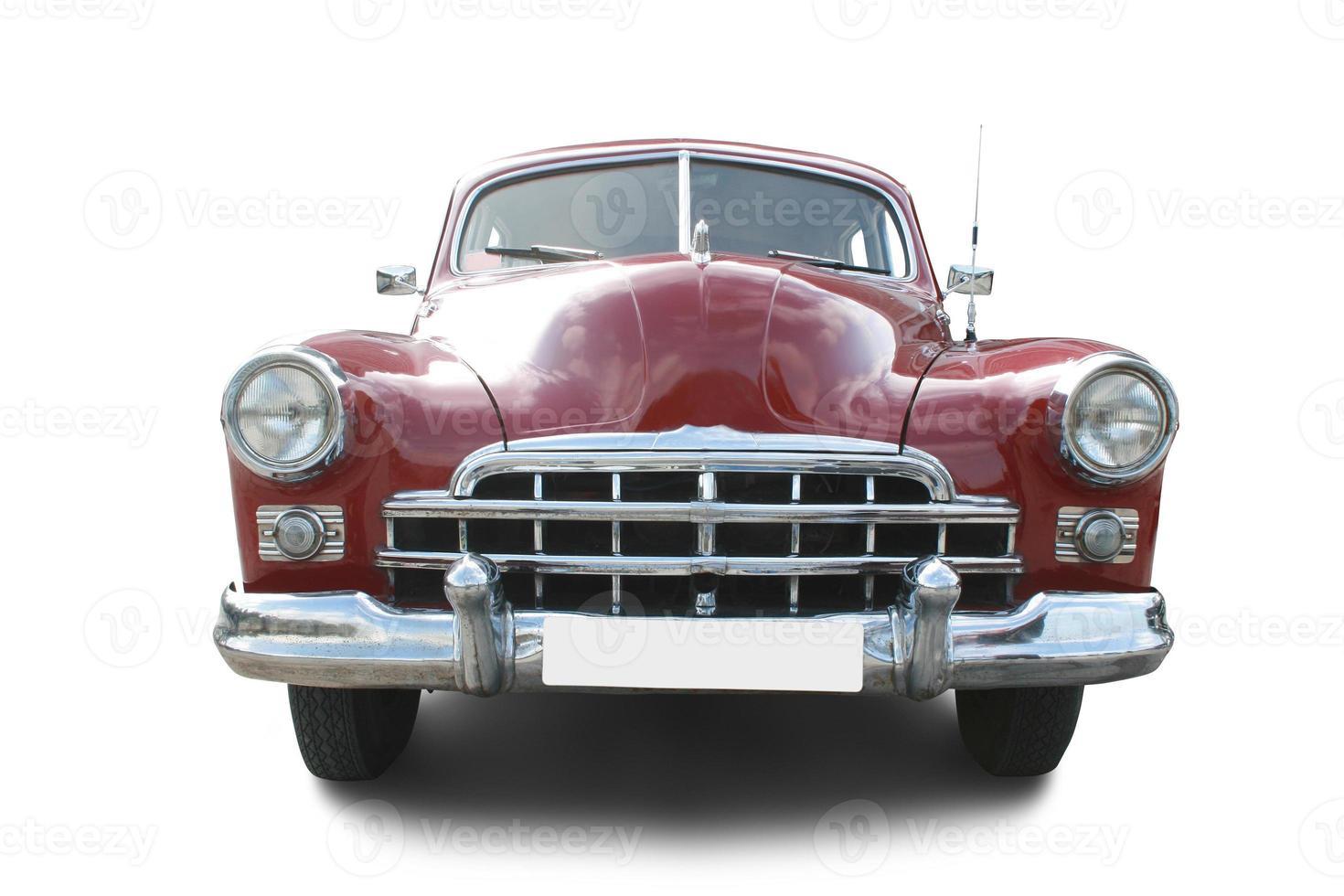 automóvil retro rojo foto