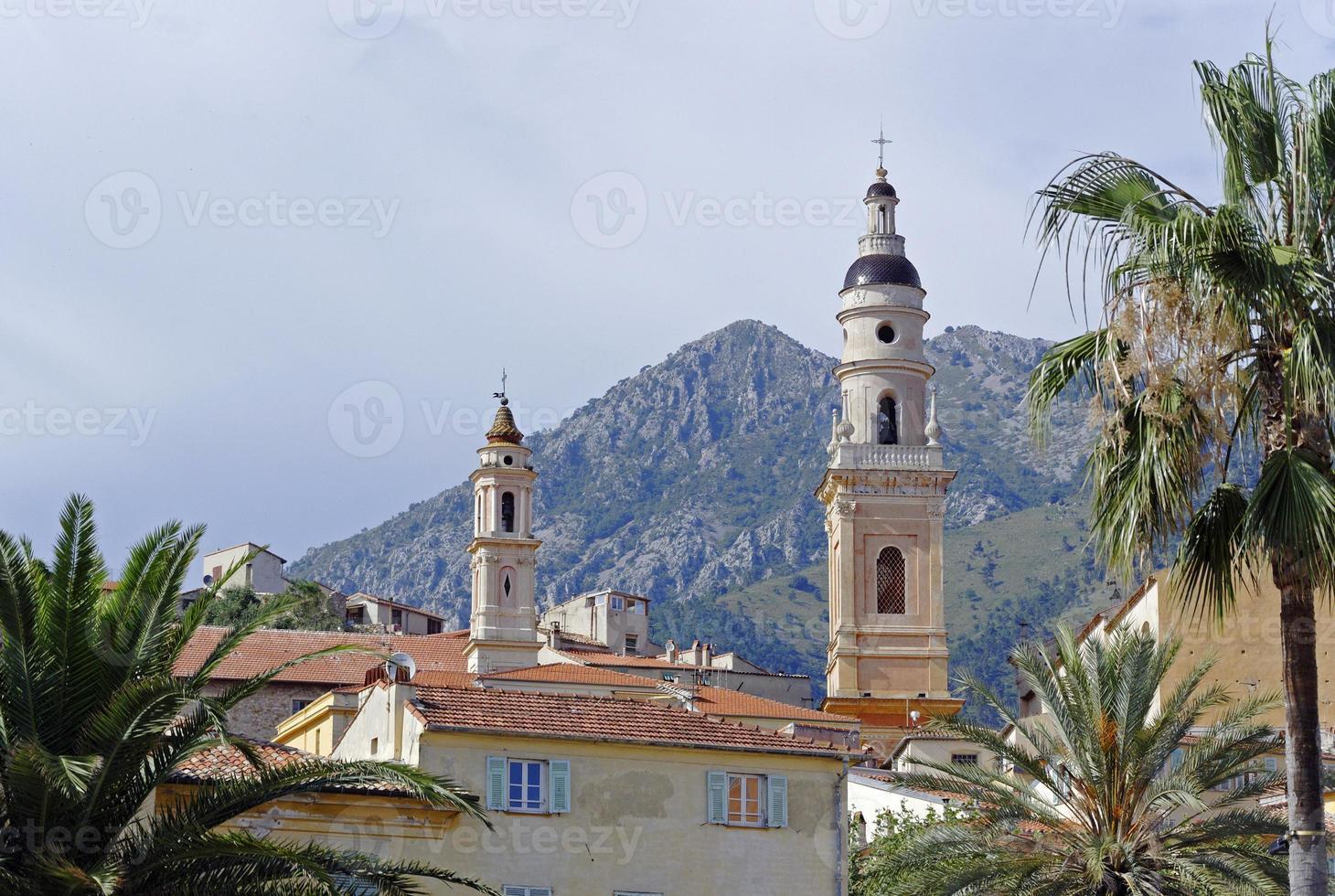 iglesia en menton / francia foto