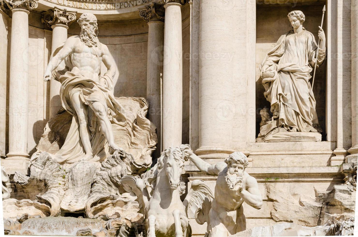 Trevi-fontein, Rome, Italië foto