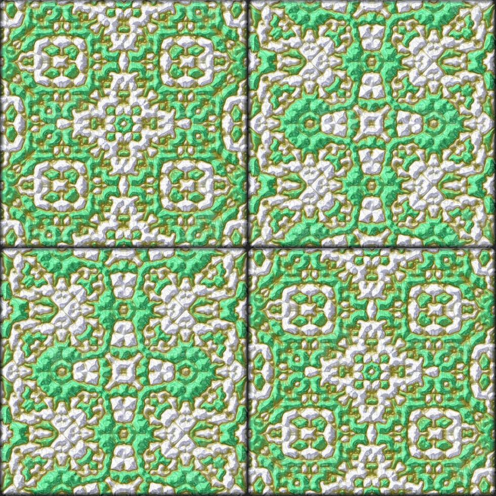 Azulejos genarados vidriados verdes retro - textura foto