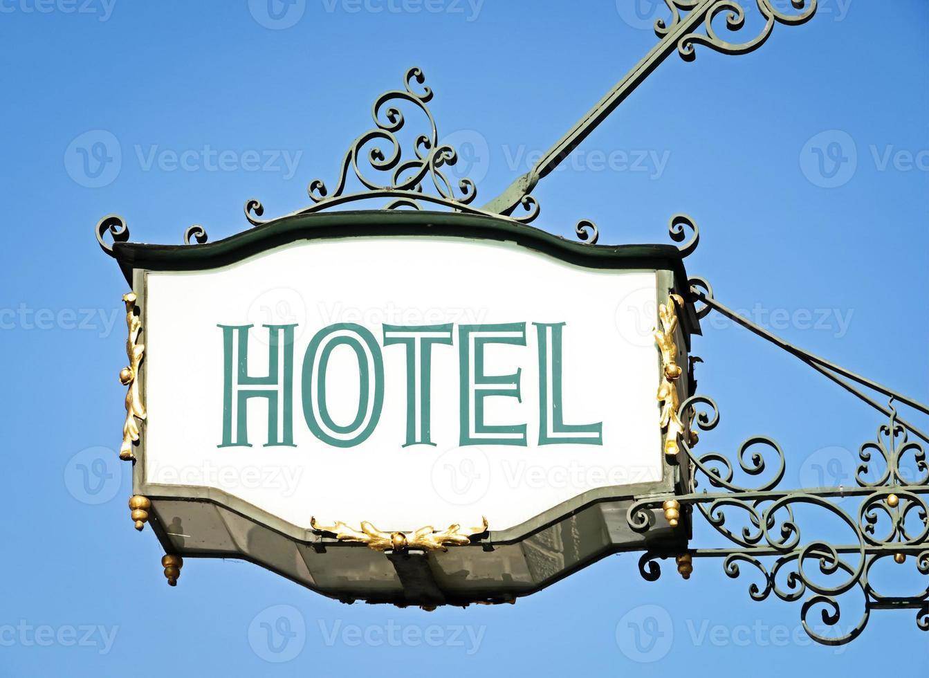 sinal do hotel foto