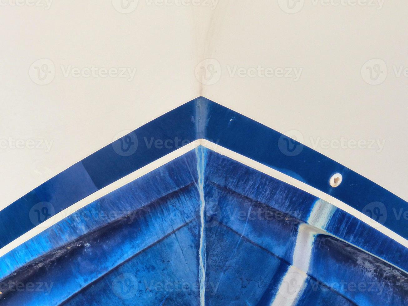 The blue boat photo