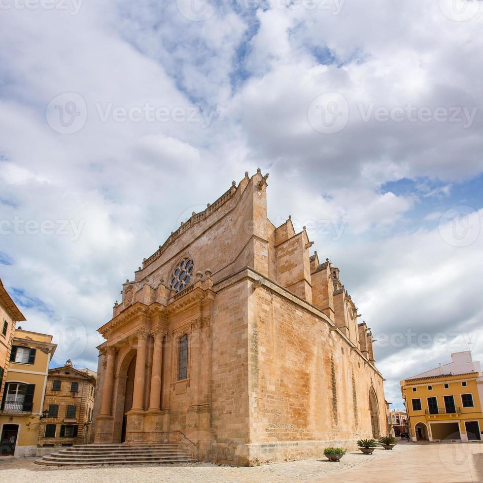 Ciutadella Menorca Cathedral in Ciudadela at Balearic photo