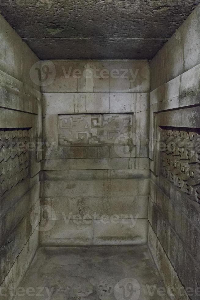 sitio arqueológico de mitla, oaxaca, méxico foto