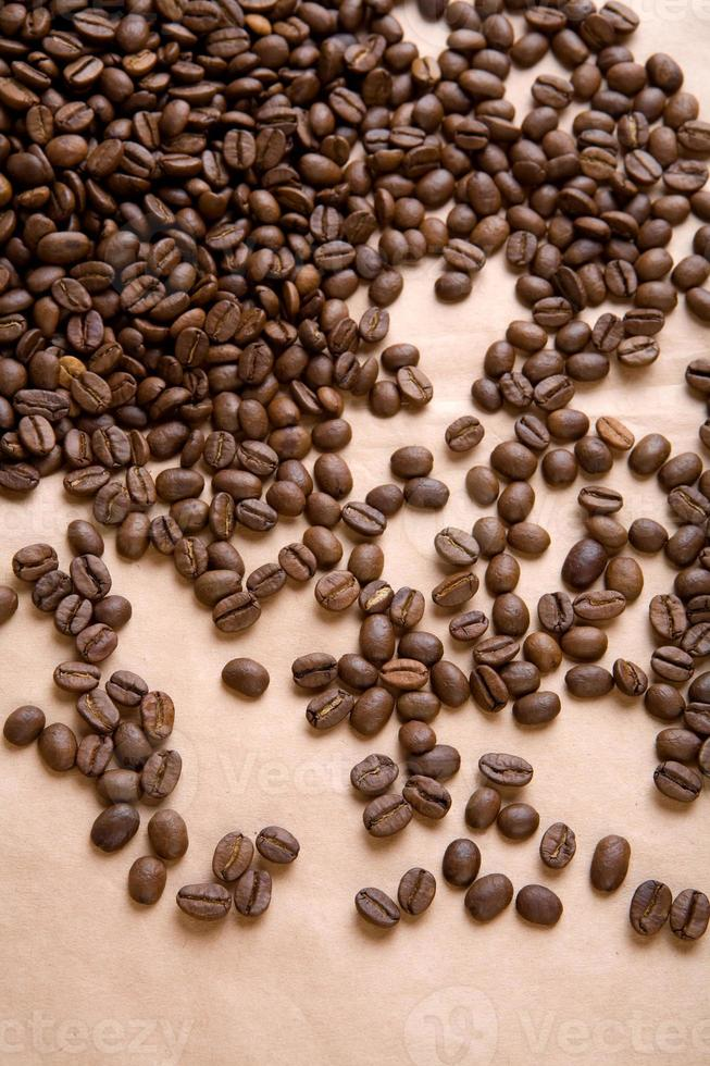 background of coffee on a paper close up photo