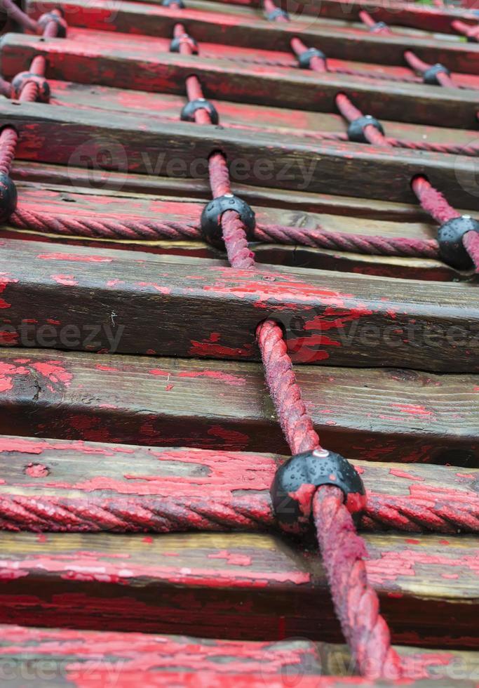 Roped ladder photo