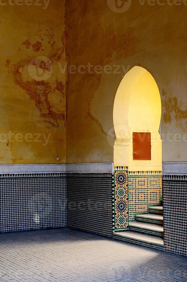 Moroccan, Moorish architectural elements. Entrance. photo
