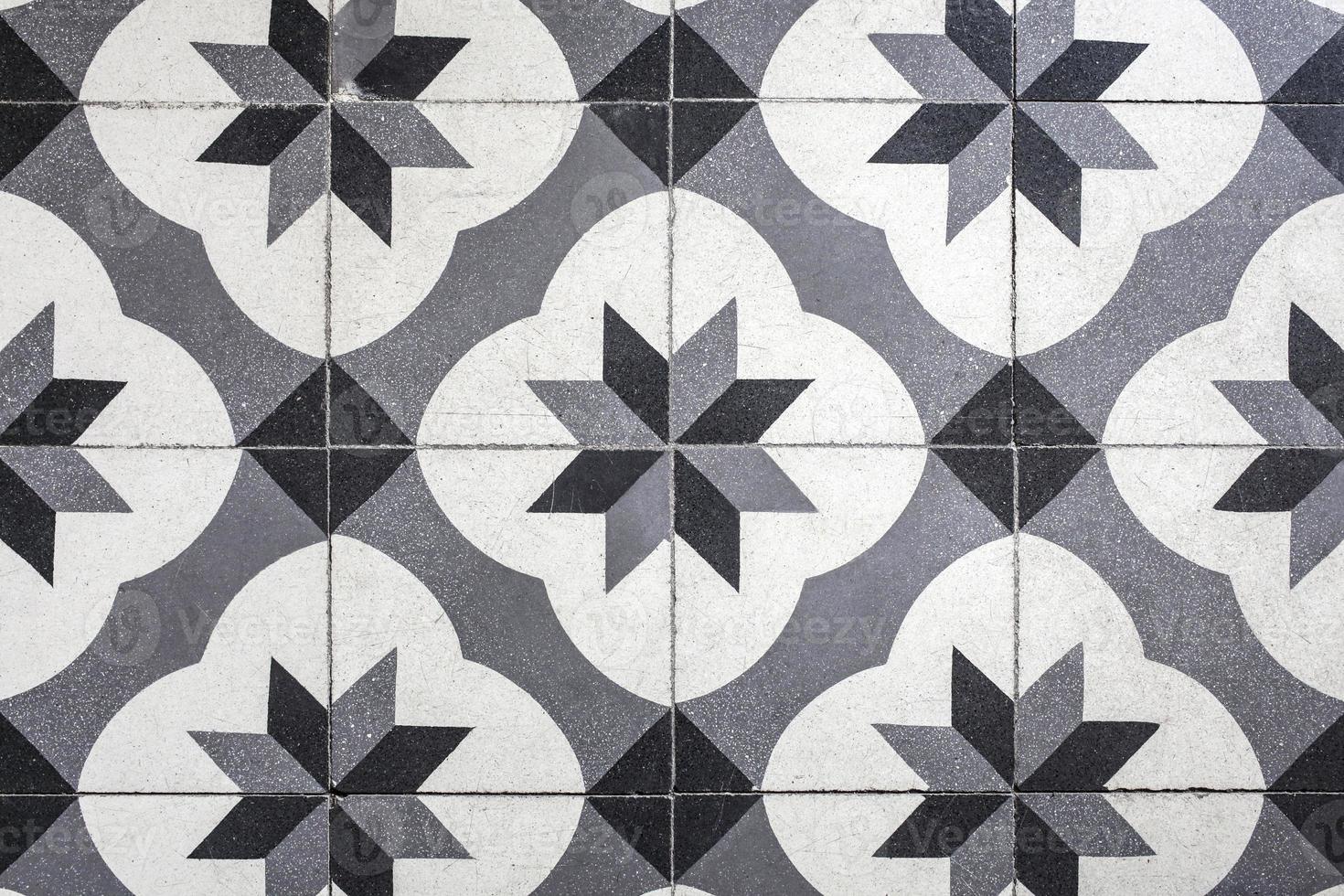 cerámica de piso vintage foto