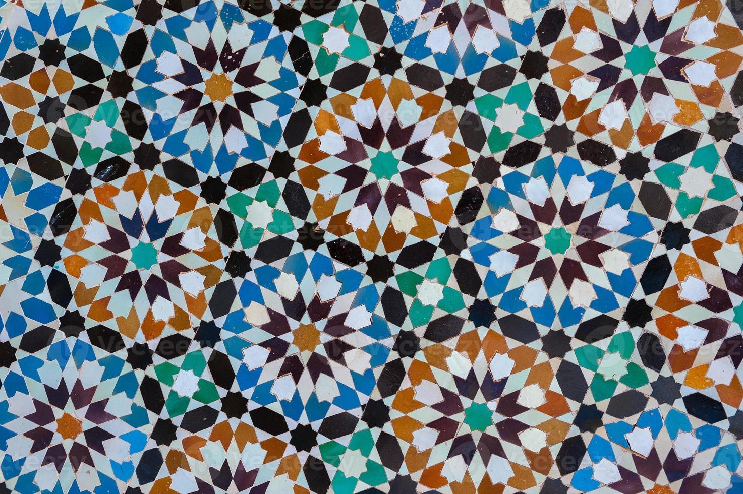moroccan vintage tile background photo