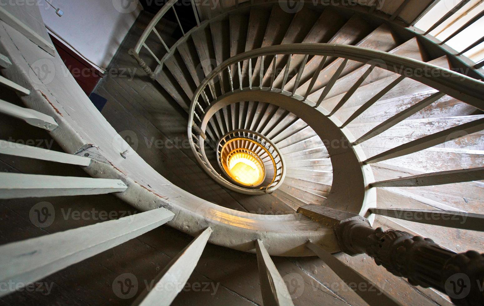 Spiral staircase in Riga photo