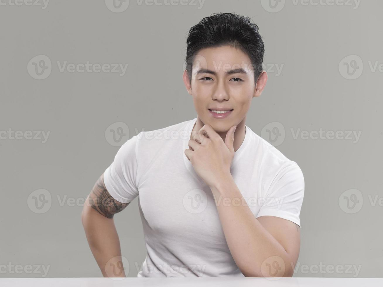 Asian Young Handsome Man Posing photo