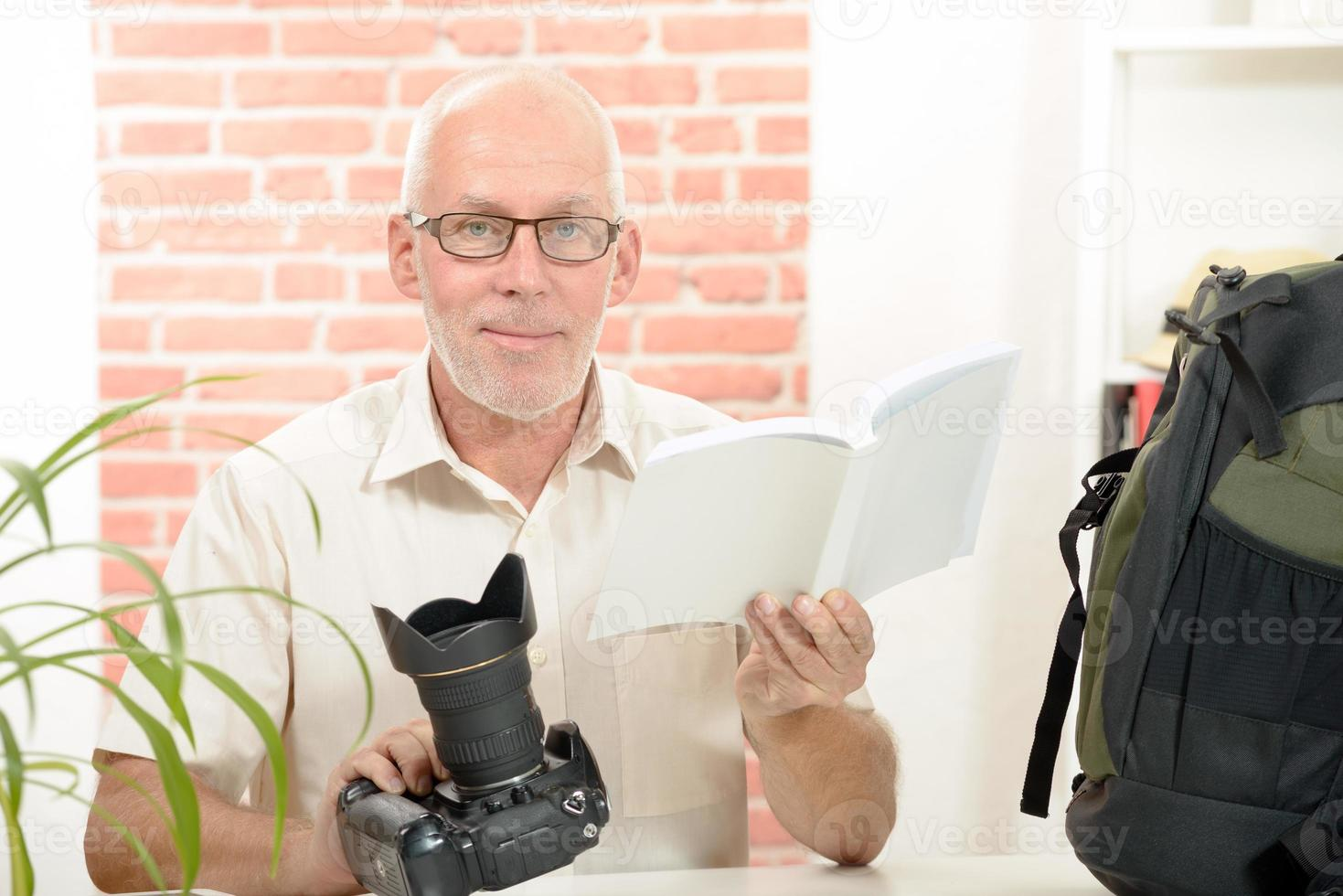 photographer with the camera and notice photo