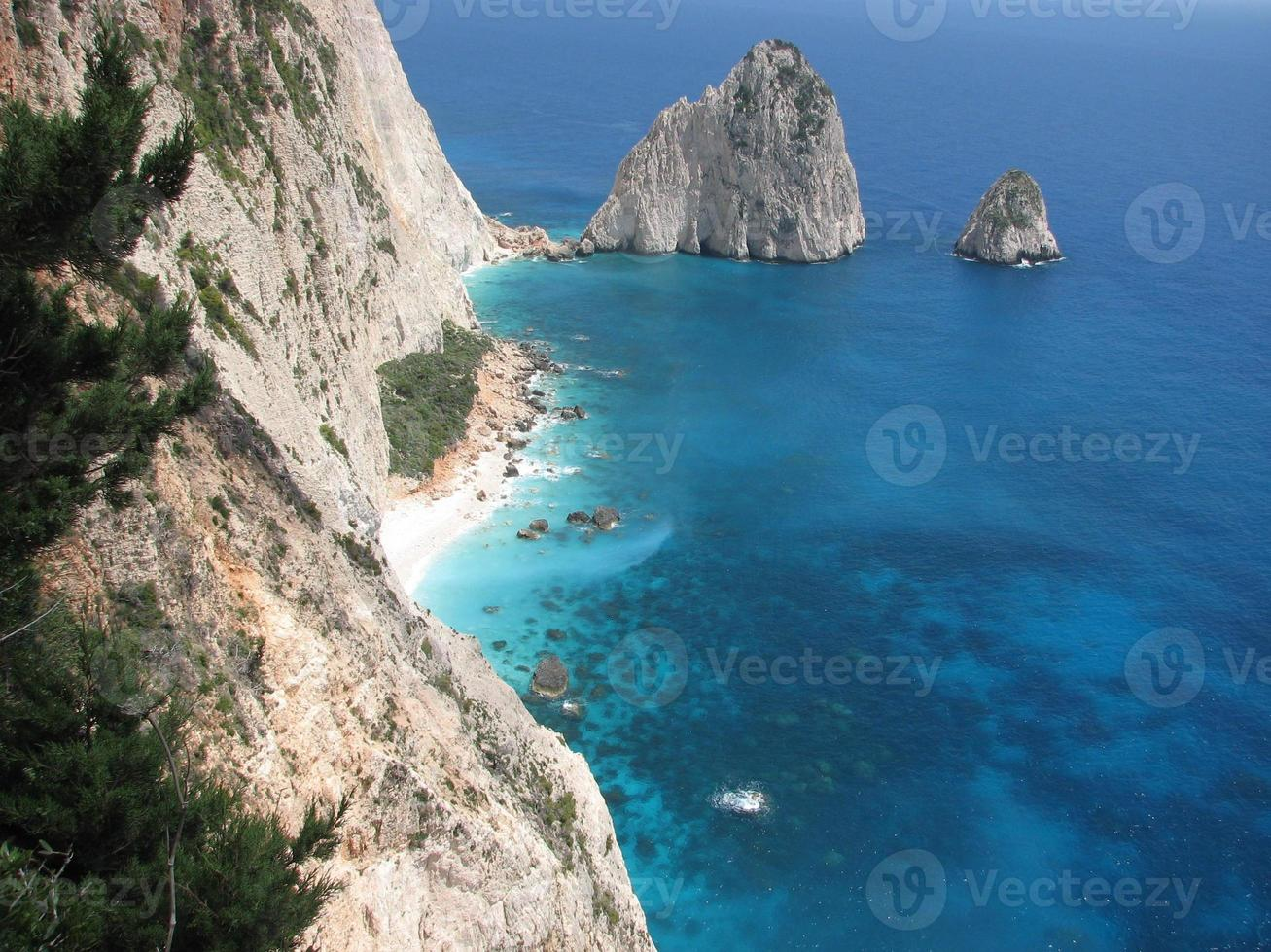 View of the oceaan from Zakynthos photo