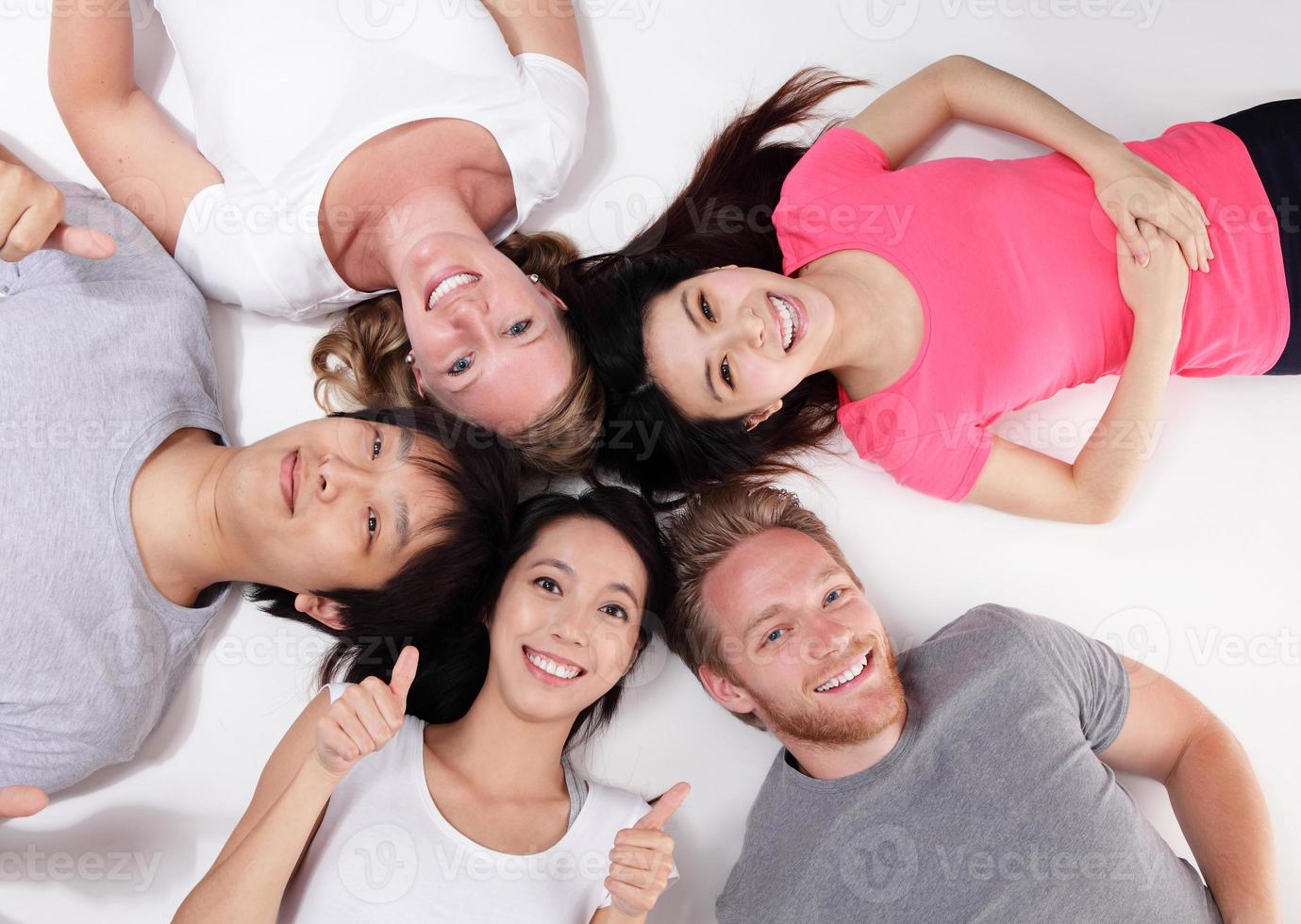 Happy Group of friends photo