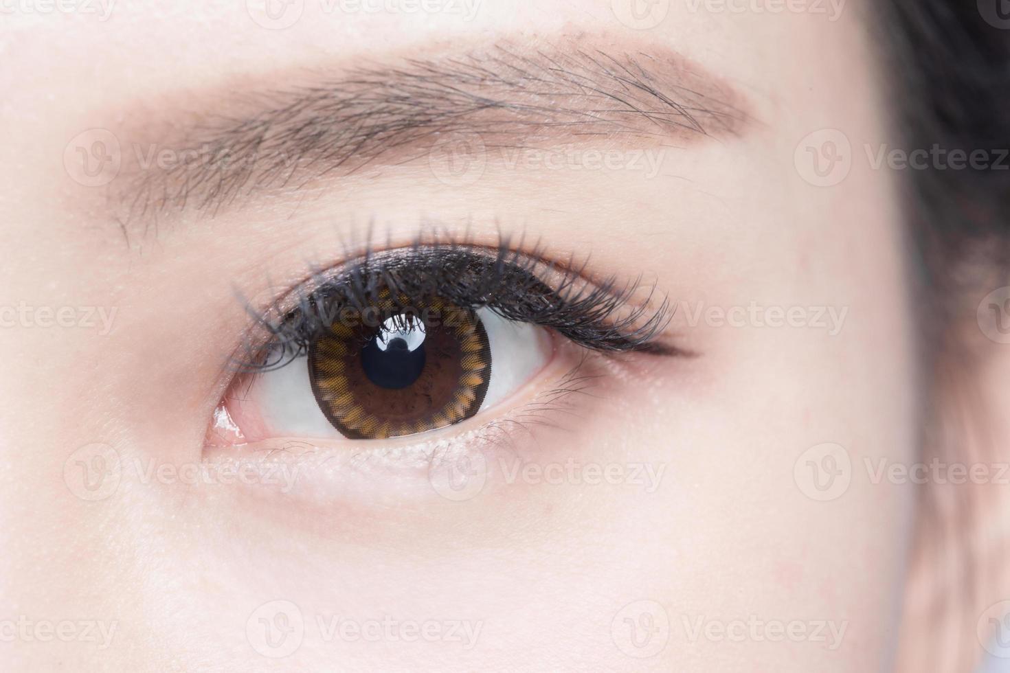Beautiful woman eye photo