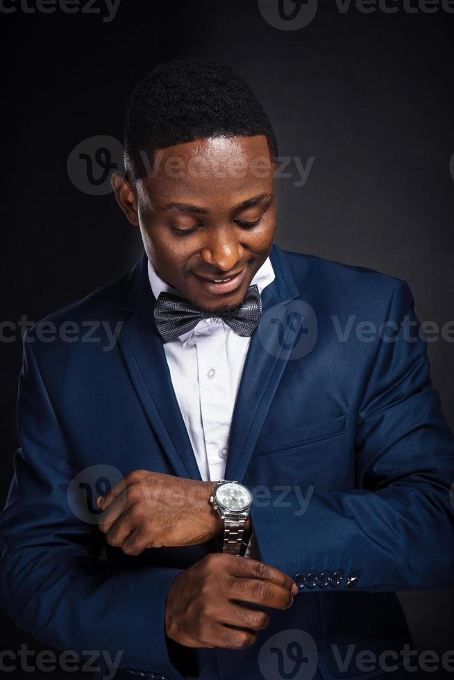 Handsome african american stylish man photo