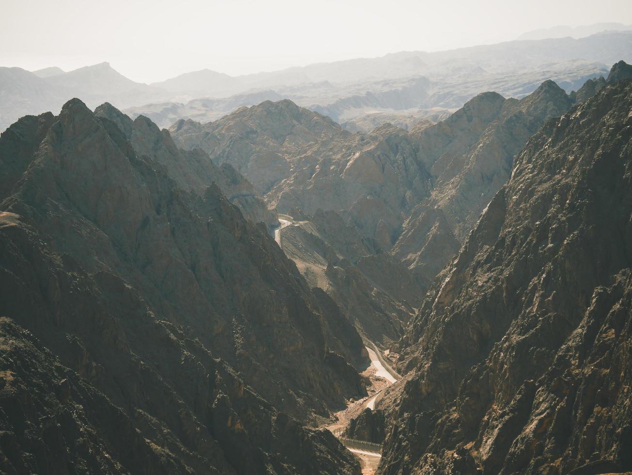 Hazy view of valley photo