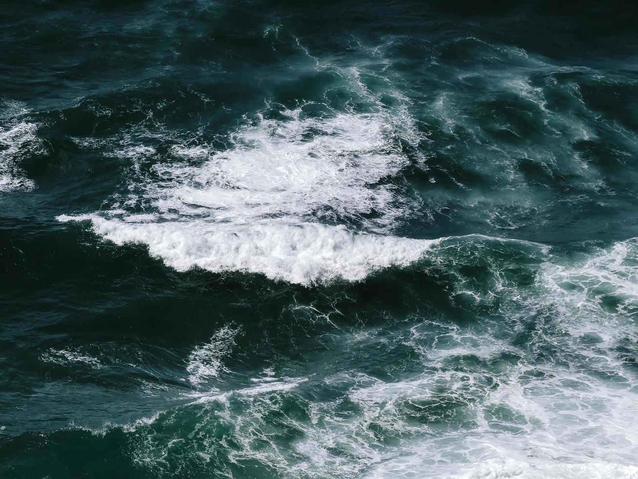 Water waves crashing photo