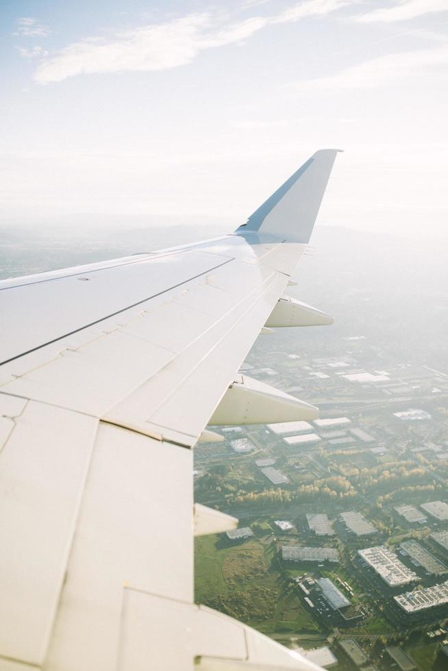 Plane's right wing photo