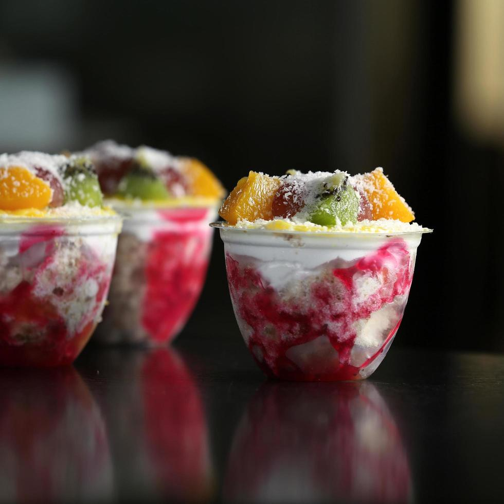 colorida fruta congelada foto