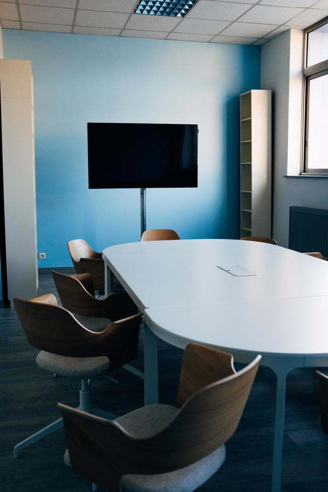 Flat screen tv in conference room photo