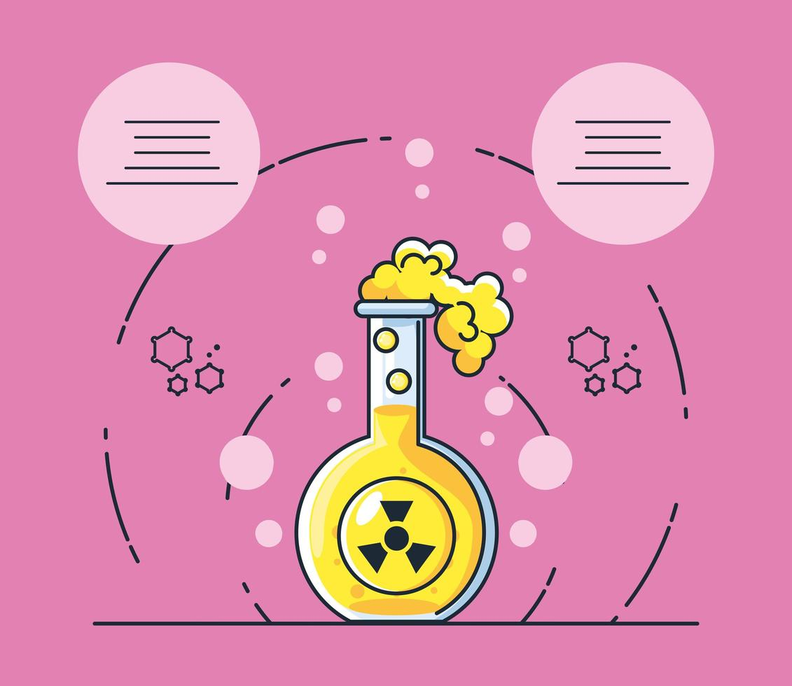 Infographic with a chemical laboratory test tube icon vector
