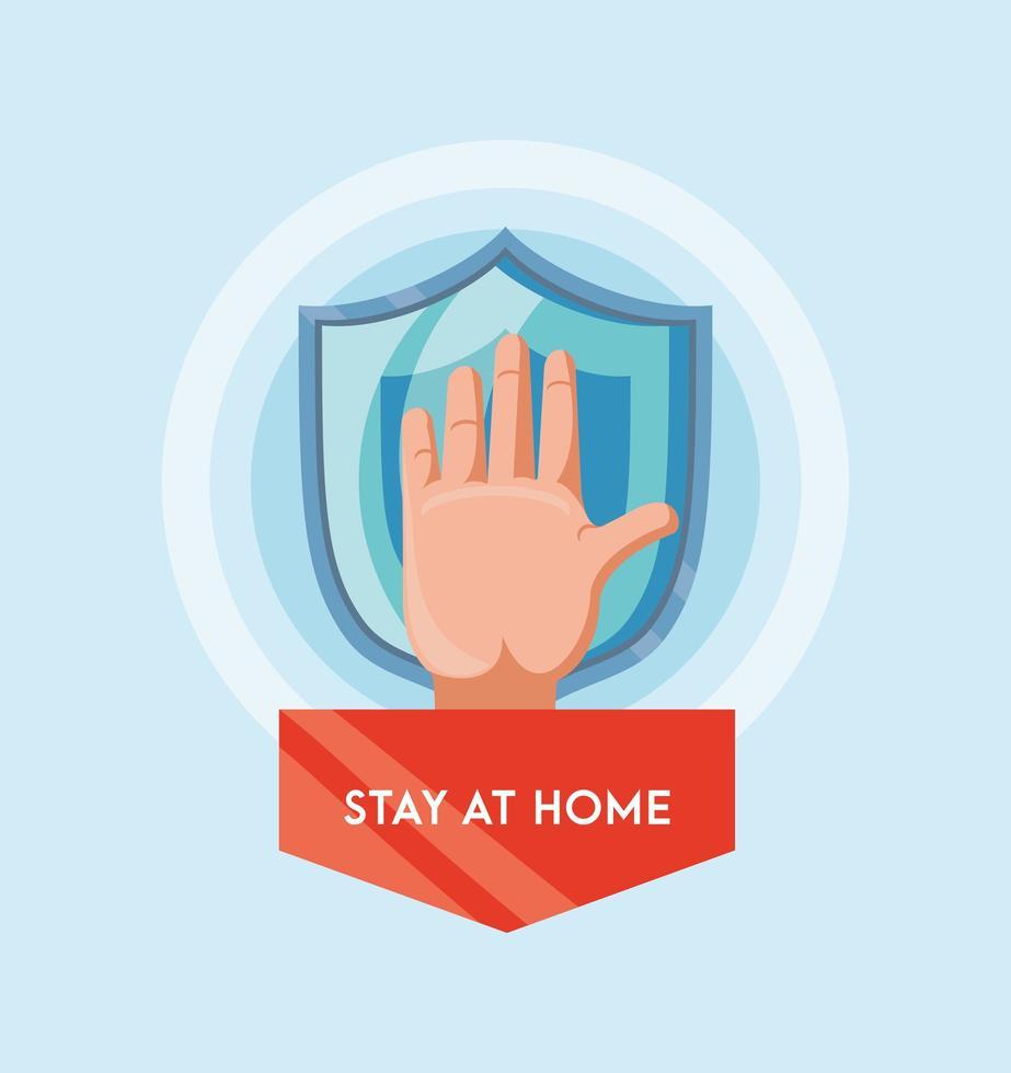 quedarse en casa previene la infección por coronavirus vector