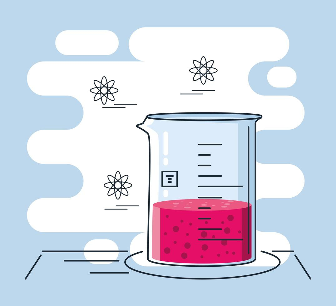 Chemical laboratory test tube vector
