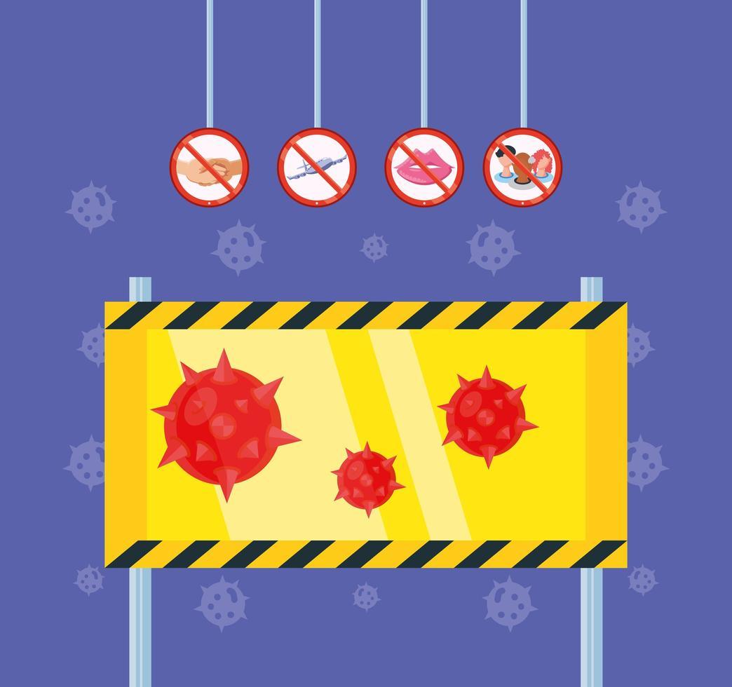 alerta de peligro de brote de coronavirus vector