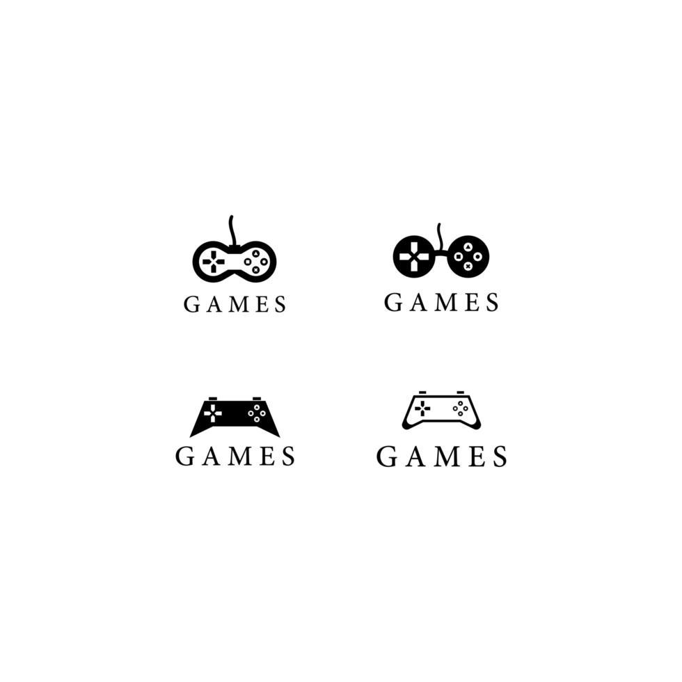 modèle de logo de jeux vecteur