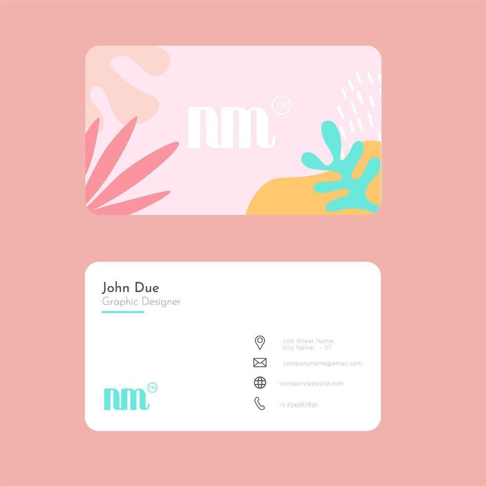 modelo de cartão de visita feminino vetor