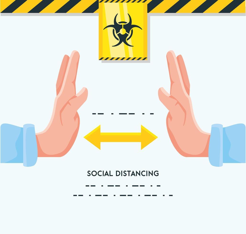 infografía para mantener la distancia de las personas vector