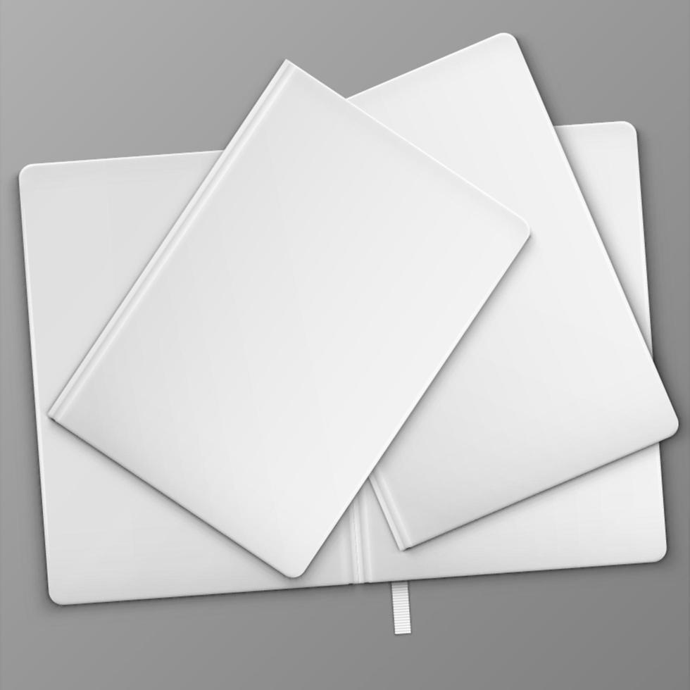 libros blancos sobre la mesa vector