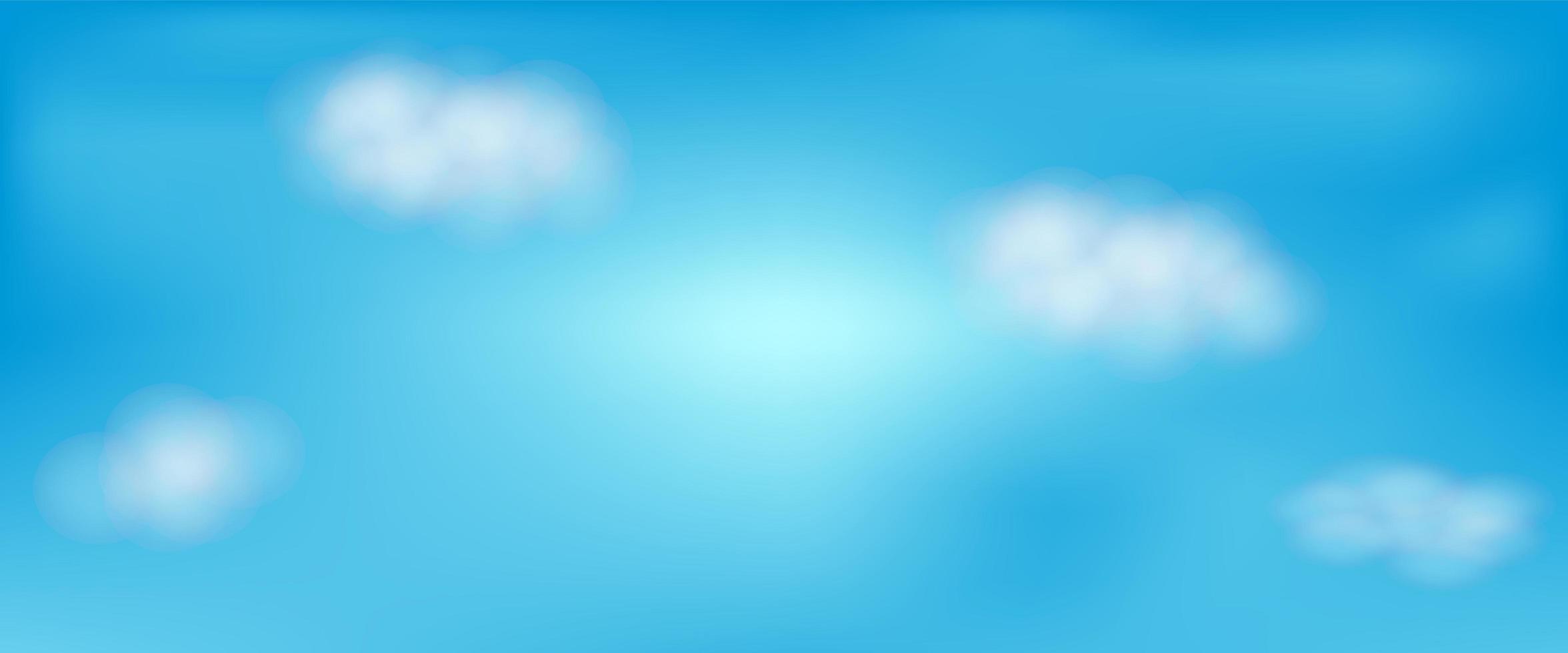 lindo céu azul com nuvens vetor