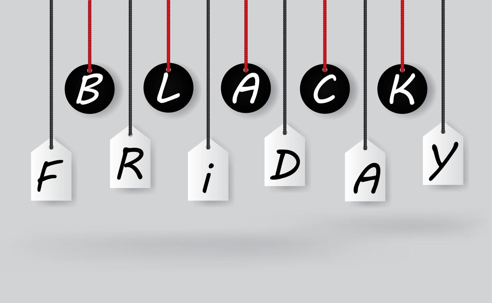 Black Friday sale tag labels vector