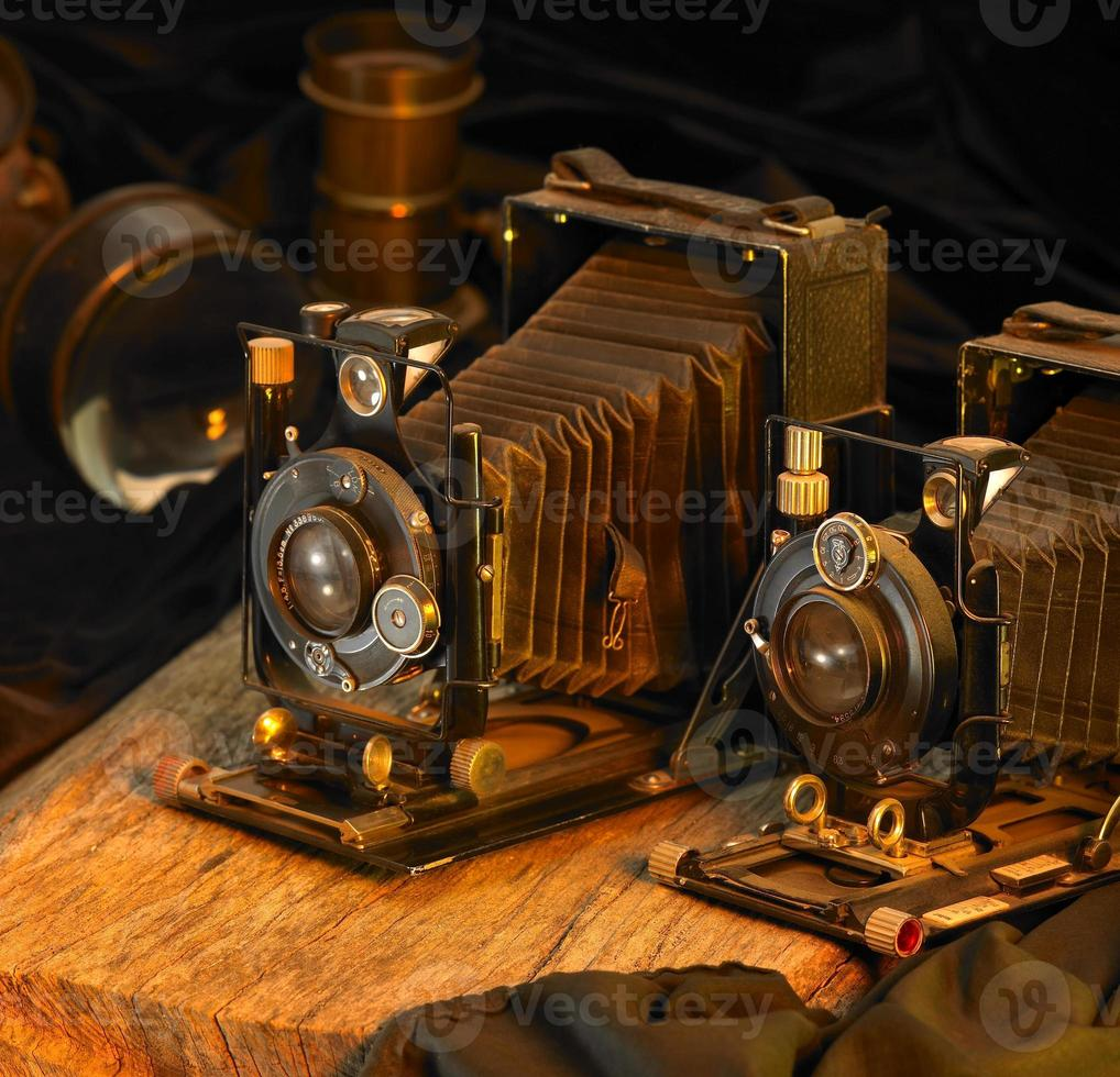 still life with nostalgic cameras photo