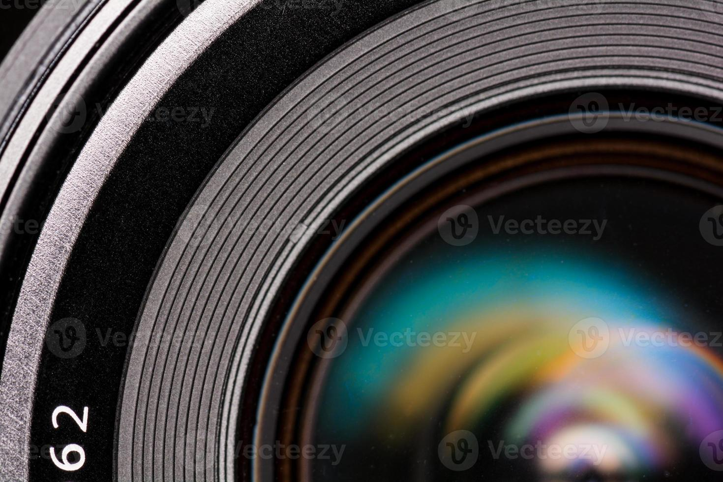 Front element of a camera lens photo