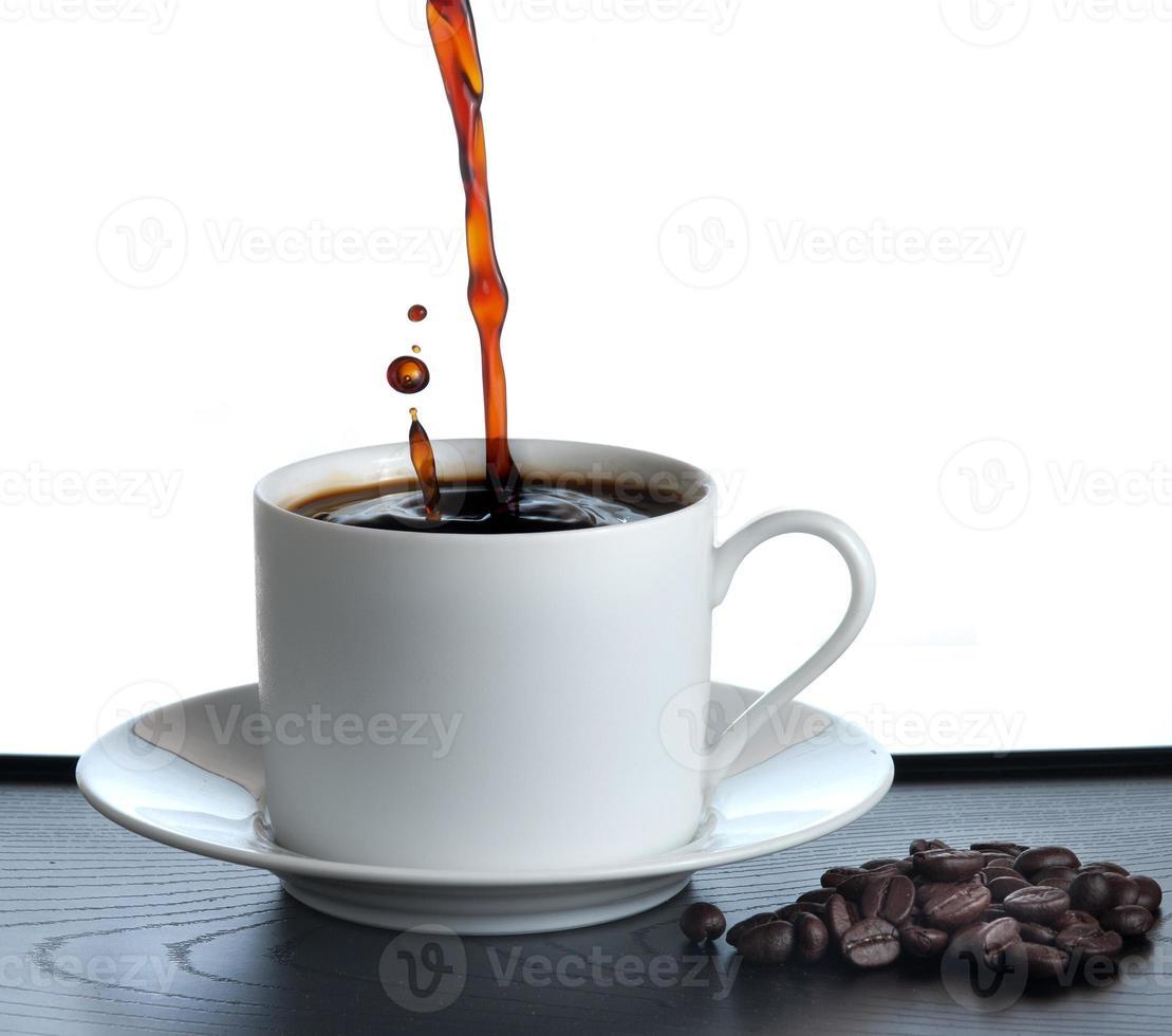 coffee creating splashes photo