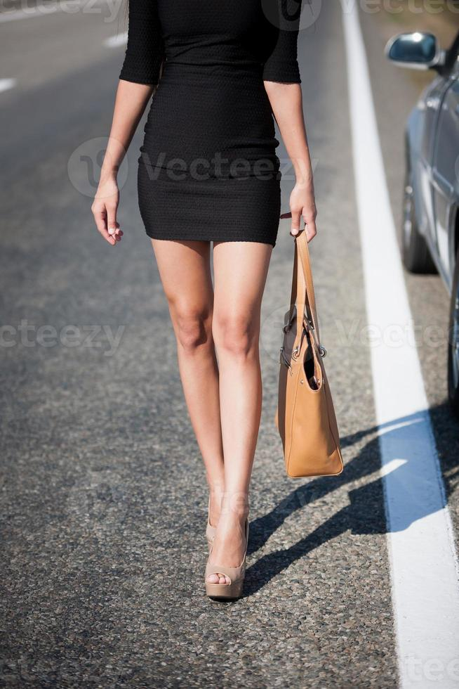 leg woman road photo